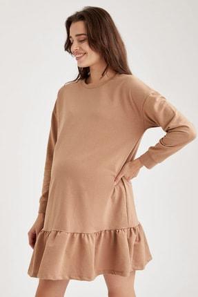 Defacto Volanlı Etek Detaylı Hamile Elbisesi 2