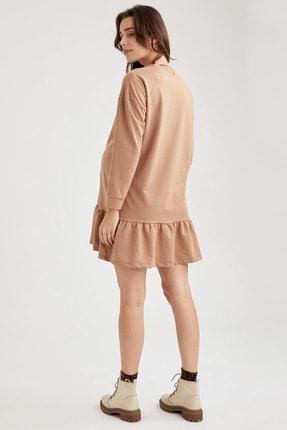 Defacto Volanlı Etek Detaylı Hamile Elbisesi 3