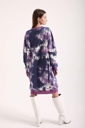 Kokosh Kadın Mor Batik Sweat Elbise 2
