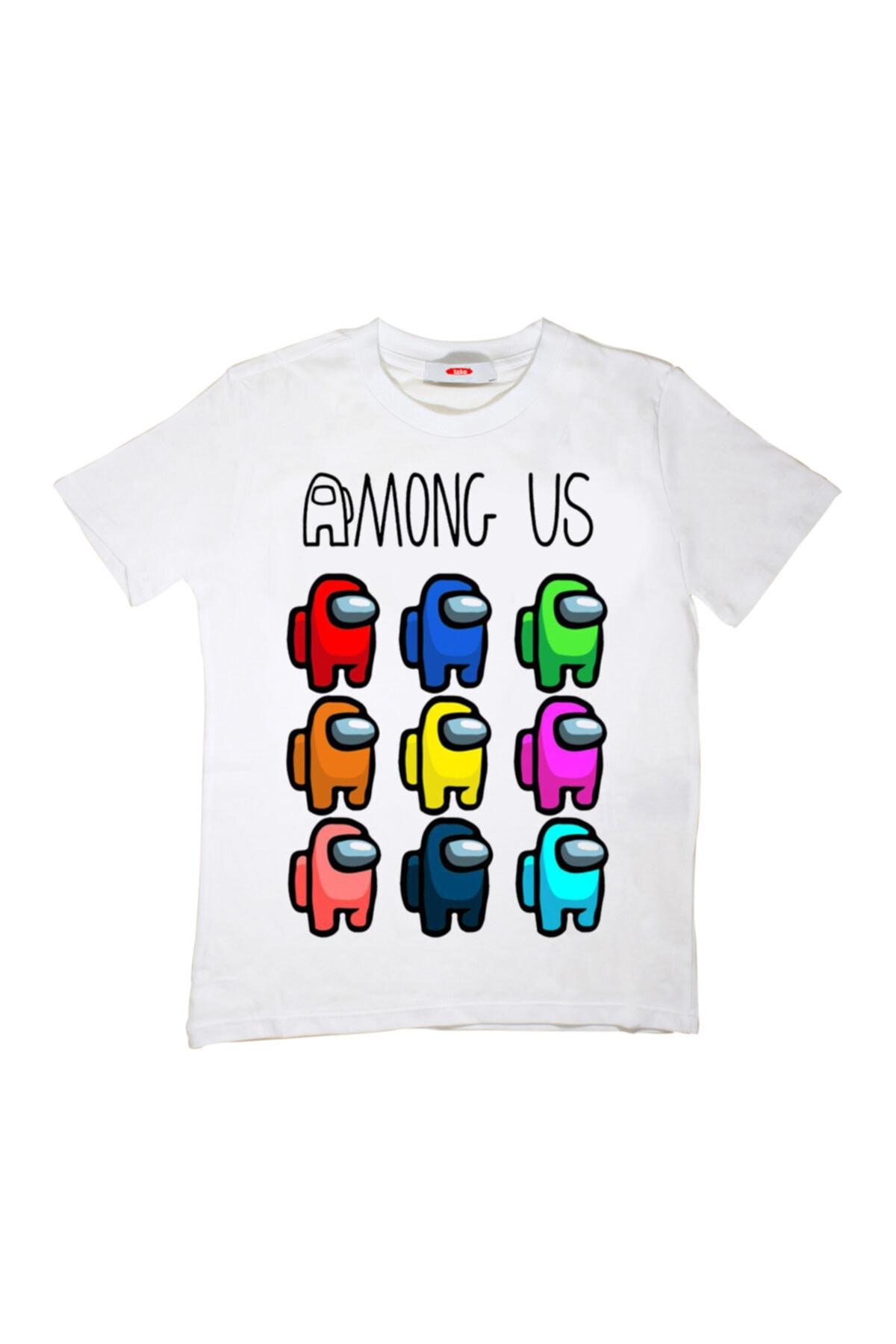 TakeTshirt Among Us Çocuk Tişört Beyaz Unisex