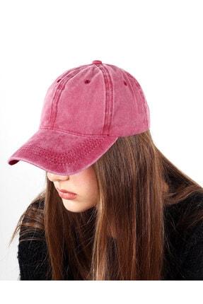 REBBEX Unisex Pembe Eskitme Vintage Kep Şapka 0