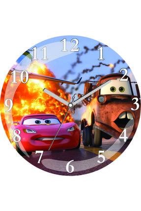3M Arabalar Sessiz Akar Bombeli Gerçek Cam Duvar Saati 0