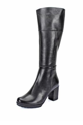 GÖNDERİ(R) Gön Hakiki Deri Siyah Topuklu Fermuarlı Günlük Kadın Çizme 44602 2