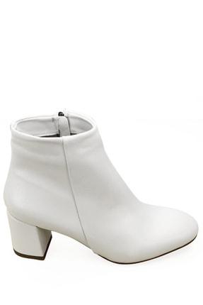 GÖNDERİ(R) Gön Beyaz Fermuarlı Yuvarlak Burun Günlük Kadın Bot 37346 3