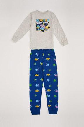 Defacto Erkek Çocuk Kral Şakir Lisanslı Pijama Takım 0