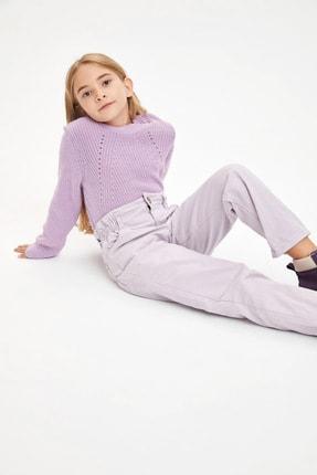 Defacto Kız Çocuk Elastik Belli Paperbag Jean Pantolon 0