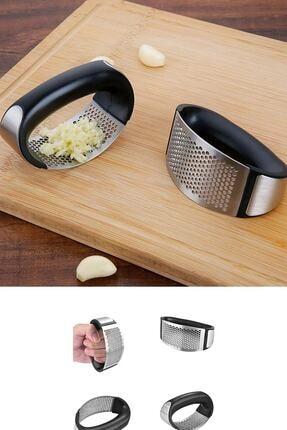 Kitchen Life Tutma Kollu Lüx Paslanmaz Çelik Sarımsak Ezici 2