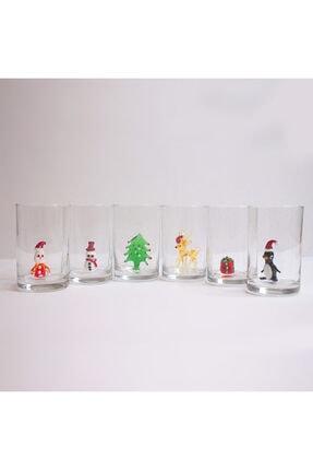 ADAMODART Yılbaşı Özel 6'lı Kahve Yanı Su Bardağı 1