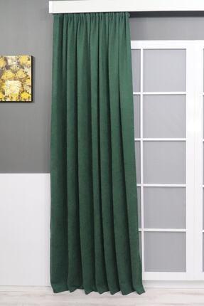 Brillant Yeşil Petek Dokulu Fon Perde 150x260 0