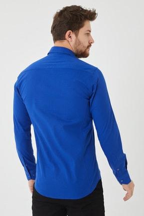 Cosmen Erkek Lacivert Slim Fit Poplin Likralı Gömlek 1