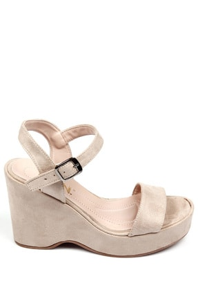 GÖNDERİ(R) Bej Nubuk Kadın Sandalet 41000 2