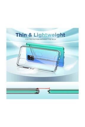Cimricik Galaxy A71 Uyumlu Şeffaf Gard Zırh Kılıf Kamera Korumalı Kılıf 3