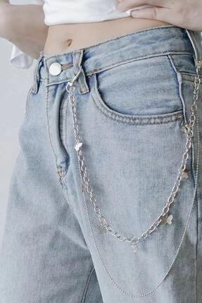 New Obsessions Kelebek Figürlü Pantalon Aksesuarı-zincir Kemer 0