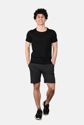 Malabadi Erkek Antrasit Alt Siyah Üst Şortlu Pijama Yazlık Takım M565 1