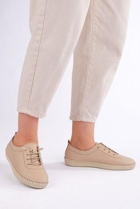 Marjin Kadın Bej Hakiki Deri Comfort Ayakkabı Ritok 3
