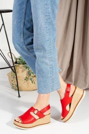 derithy Kadın Kırmızı Topuklu Sandalet7600 1