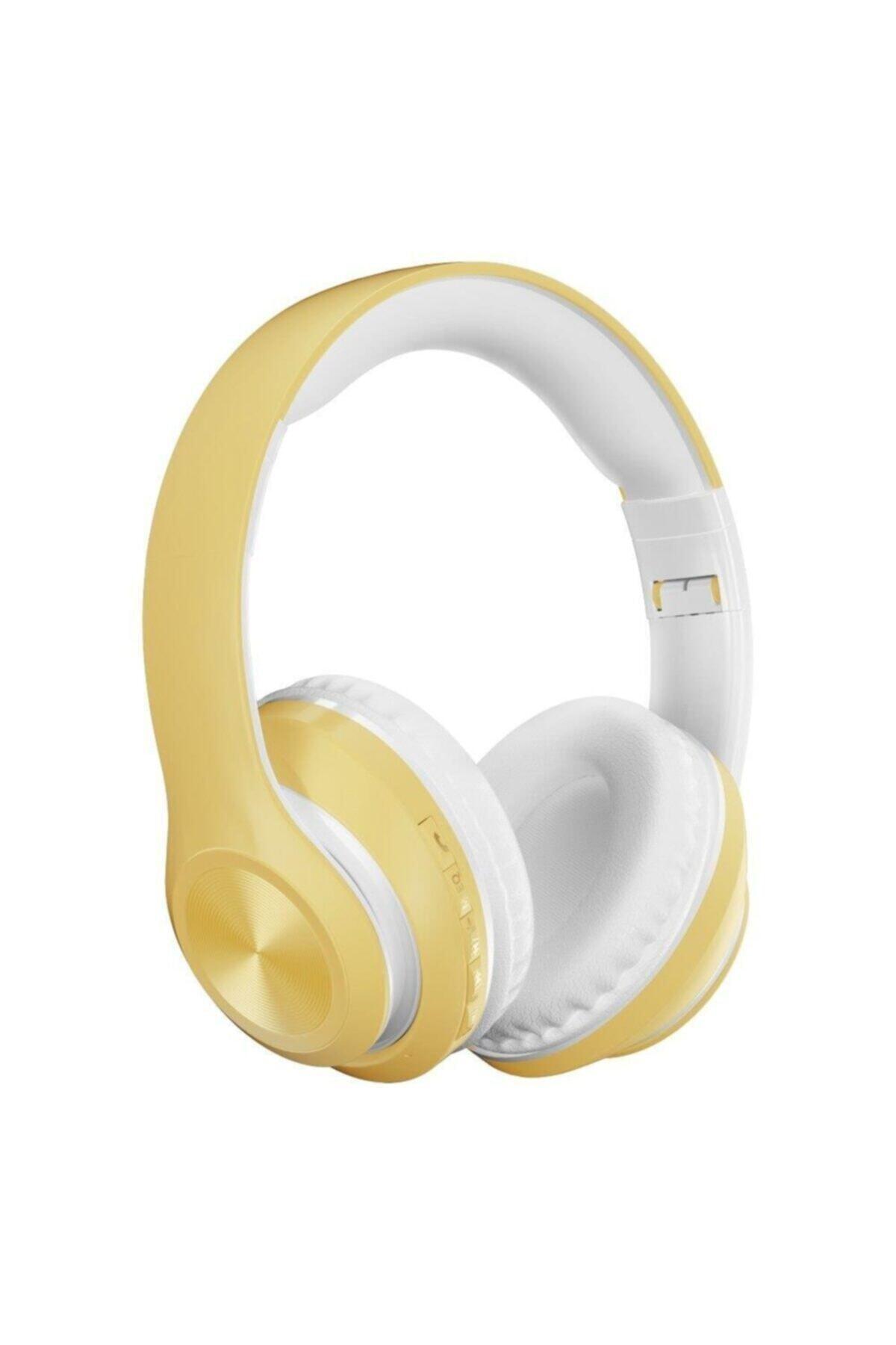 Sarı P68 Bluetooth Kablosuz Stereo Kulaklık