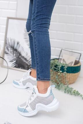 meyra'nın ayakkabıları Beyaz Mavi Spor Ayakkabı 1