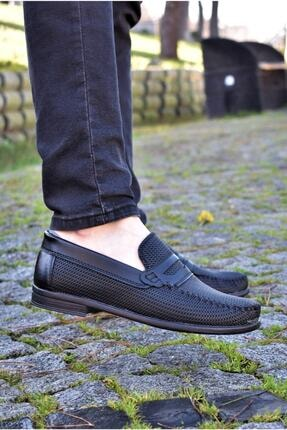 ALBİDÜNYA Erkek Siyah Tabanlı Baskı Detay Modelli Günlük Ayakkabı 1