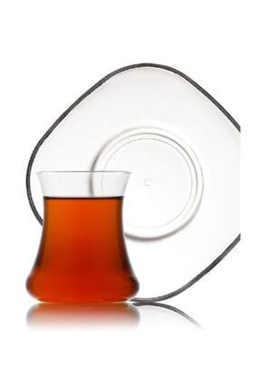 Lav Nev Lal Çay Seti Bardak 12 Prç.6 Çay Bardağı - 6 Çay Tabağı 0