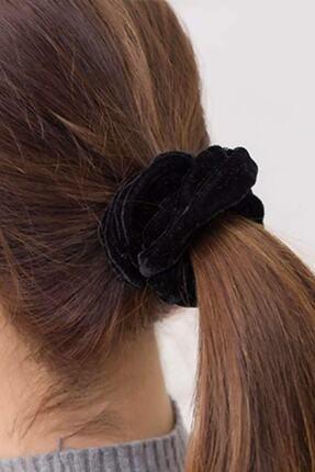 İnci Accessories Trendyıldızı 2 ' Li Kadife Siyah Lastik Toka 1