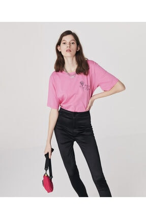 Twist Minimal Baskılı T-shirt 2