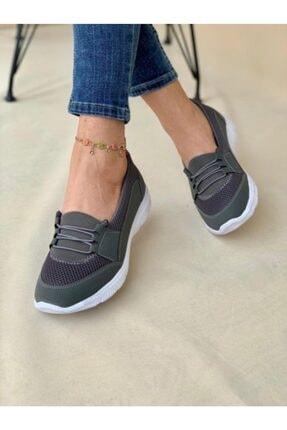 AYŞEM Kadın Gri Ortopedik Günlük Ayakkabı 0