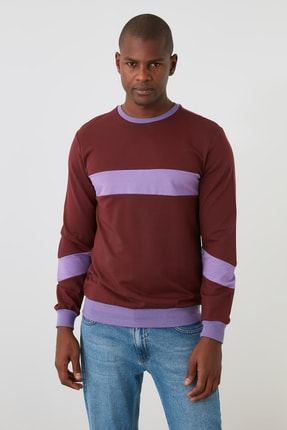 TRENDYOL MAN Kahverengi Erkek  Sweatshirt TMNAW21SW1099 2
