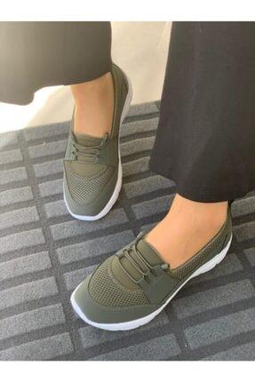 AYŞEM Kadın Haki Ortopedik Günlük Ayakkabı 0