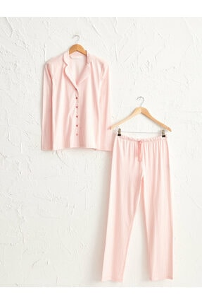 LC Waikiki Kadın Pembe Pijama Takımı 0