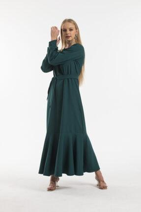 Kadın Zümrüt Elbise 22054