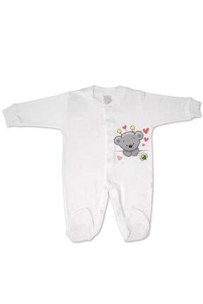 incilibaby Bebek Beyaz Uzun Kollu Tulum Ve Kısa Kollu Body 2