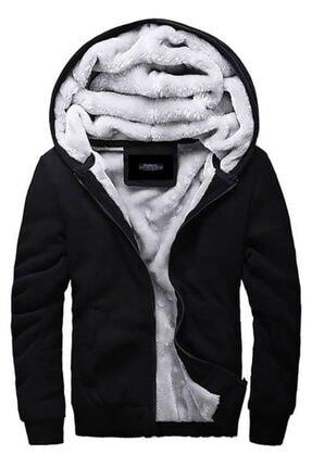 Madmext Erkek Siyah Kapüşonlu Sweatshirt 0