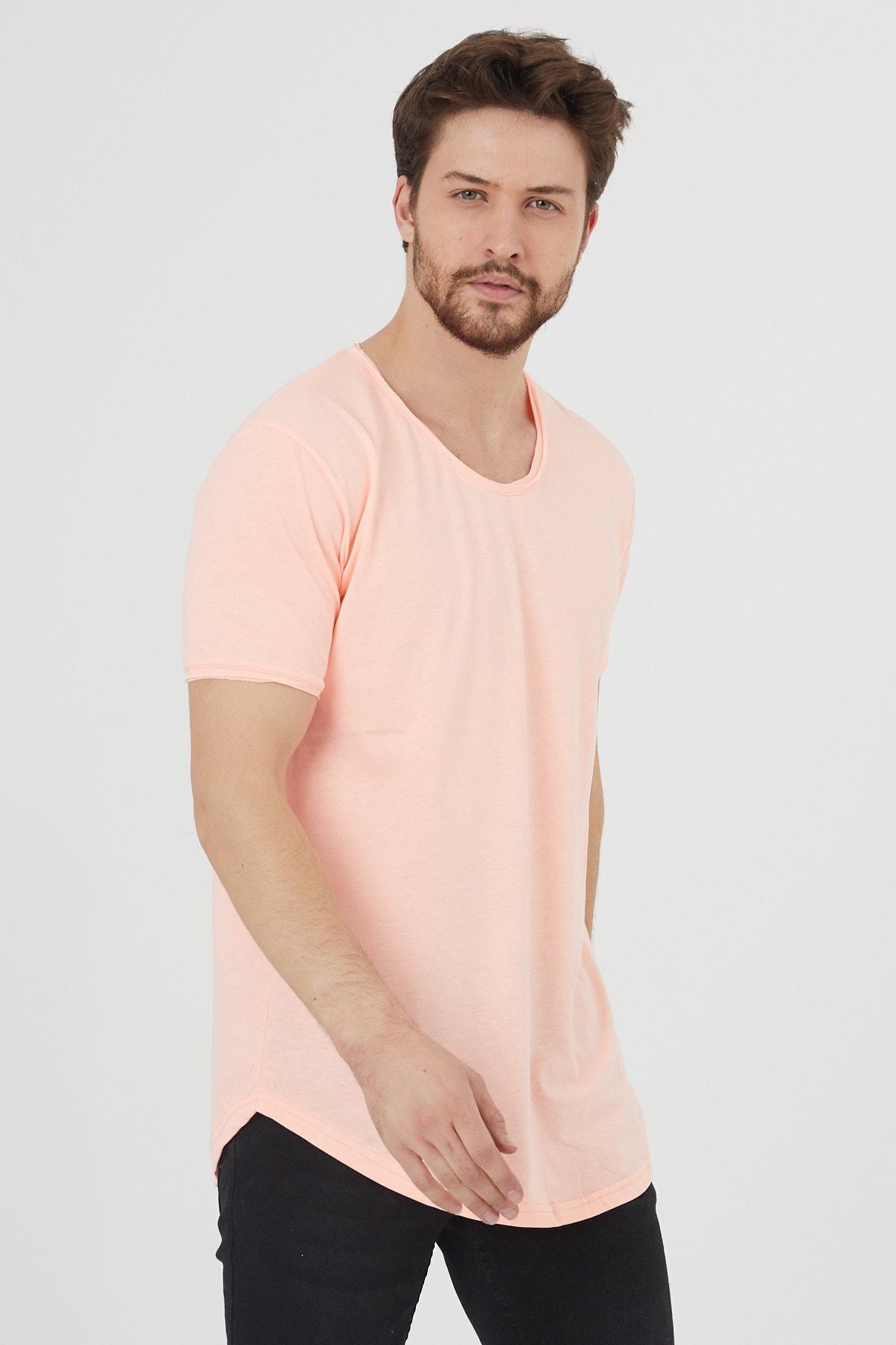 Erkek Şeker Pembe Salaş T-shirt