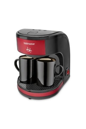 GoldMaster Bi Kahve Kırmızı Çift Kupalı Filtre Kahve Makinesi Filtre Kahve Hediyeli 1