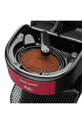 GoldMaster Bi Kahve Kırmızı Çift Kupalı Filtre Kahve Makinesi Filtre Kahve Hediyeli 2