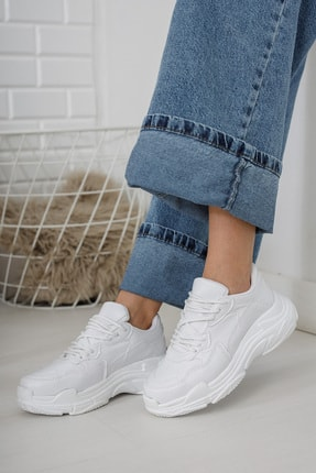 Moda Değirmeni Kadın Beyaz Sneaker Md1055-101-0001 1