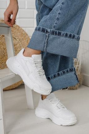 Moda Değirmeni Kadın Beyaz Sneaker Md1055-101-0001 2