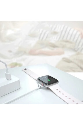 Zore Apple Watch Seri 1/2/3/4/5/6 Manyetik Usb Şarj Kablosu Aleti Hızlı Şarj 3