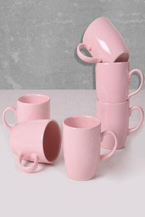 Keramika Açık Pembe Bulut Kupa 9 Cm 6 Adet 0