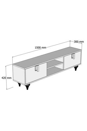 Cool Home Milas 150 Cm Ceviz-beyaz Tv Ünitesi 4