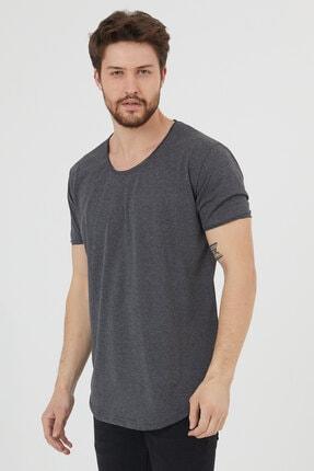 Tarz Cool Erkek Füme Pis Yaka Salaş T-shirt-tcps001r27 1