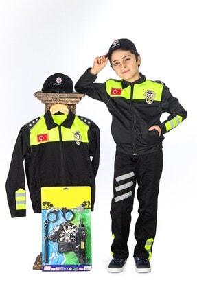 Liyavera Unisex Çocuk Trafik Polisi Kostümü 0