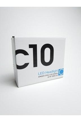 C10 H3 Led Xenon Soğurma Fanlı Led Zenon Far Ampulü Yeni Nesil Şimşek Etkili 1