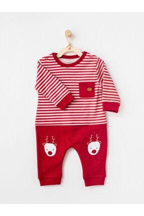 تصویر از Kırmızı Bebek Tulum Noel Yılbaşı Tulumu Organik