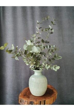 Decolass Kuru Çiçek Şoklanmış Okaliptus Demeti Yeşil (50 cm) 0