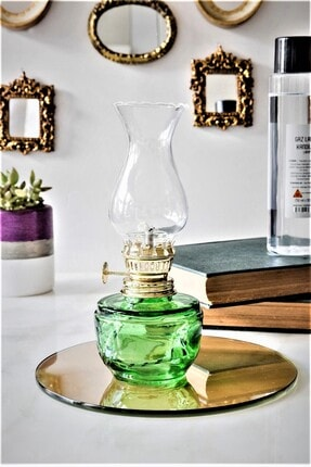 SihirliCam Dekoratif Nostaljik Küçük Boy Gaz Lambası, Klasik Model Hediyelik Cam Gaz Lambası (7x18 Cm) 0