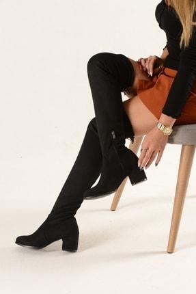 Nil Shoes Kadın Siyah Süet Streç Çizme 2
