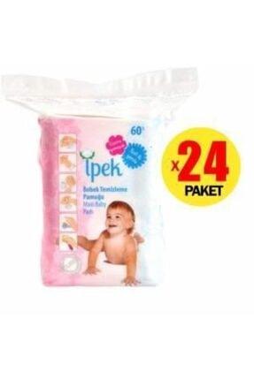 İpek Maxi Bebek Temizleme Pamuğu 60 Lı 24 Paket 1