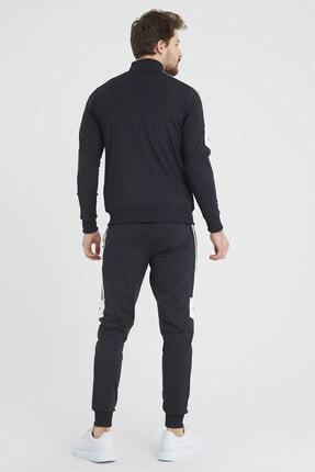 SPORTSTATİON Erkek Siyah Şeritli  Eşofman Takımı 4